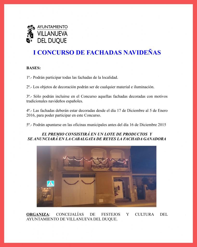CARTEL CONCURSO FACHADAS NAVIDEÑAS