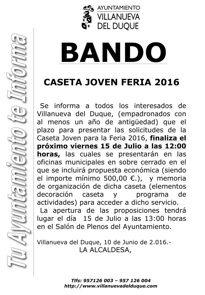 Microsoft Word - BANDO CASETA JOVEN 2016.doc