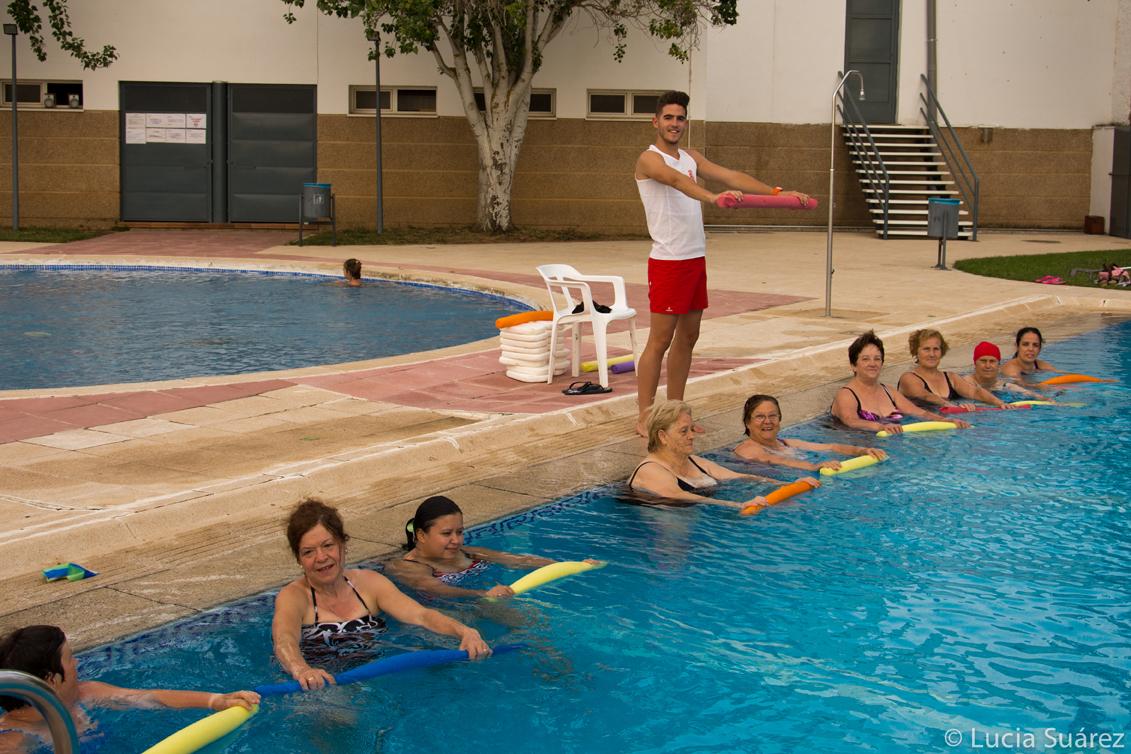 Esta tarde han comenzado las clases de aquagym en la for Piscina municipal cordoba